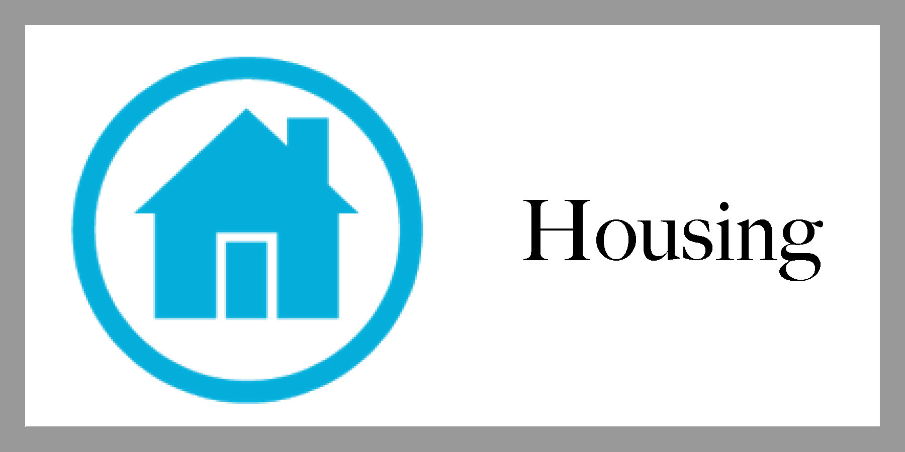 Clickable housing emblem