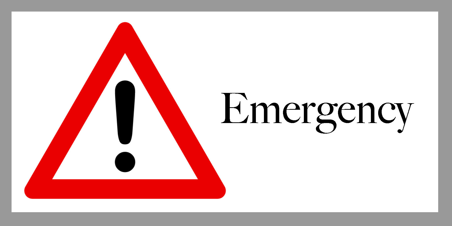 Clickable emergency emblem