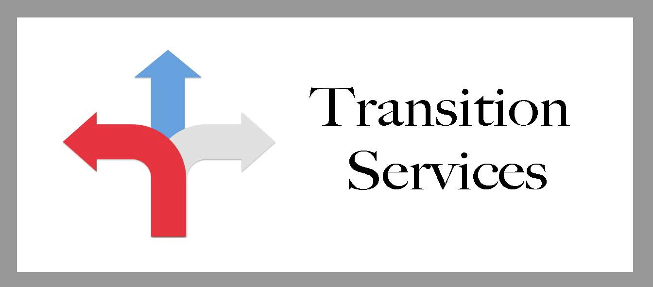 Clickable transition services emblem