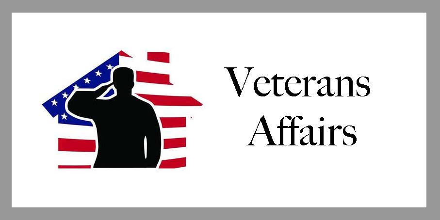 Clickable veterans affairs emblem