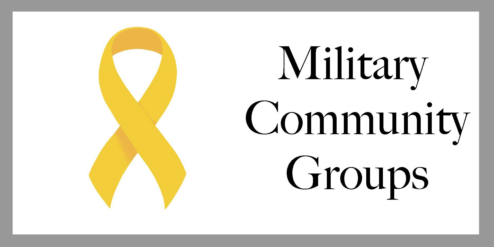Clickable Military Community Groups Emblem
