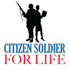 Citizen soldier for life emblem
