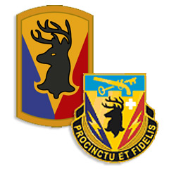 Image of Co. D, 572nd ENG Bn., 86th INF BCT, Military Intelligence logo