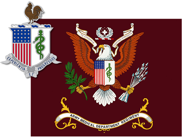 AMEDD flag and insignia image