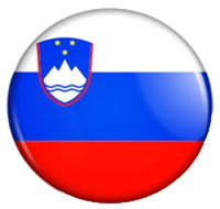 Image of Slovenia flag in a circle