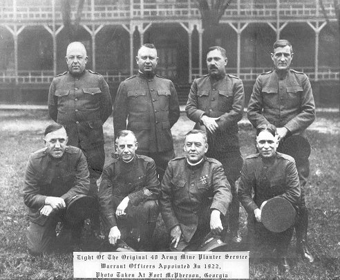 Historical archive photo of Warrant Officers