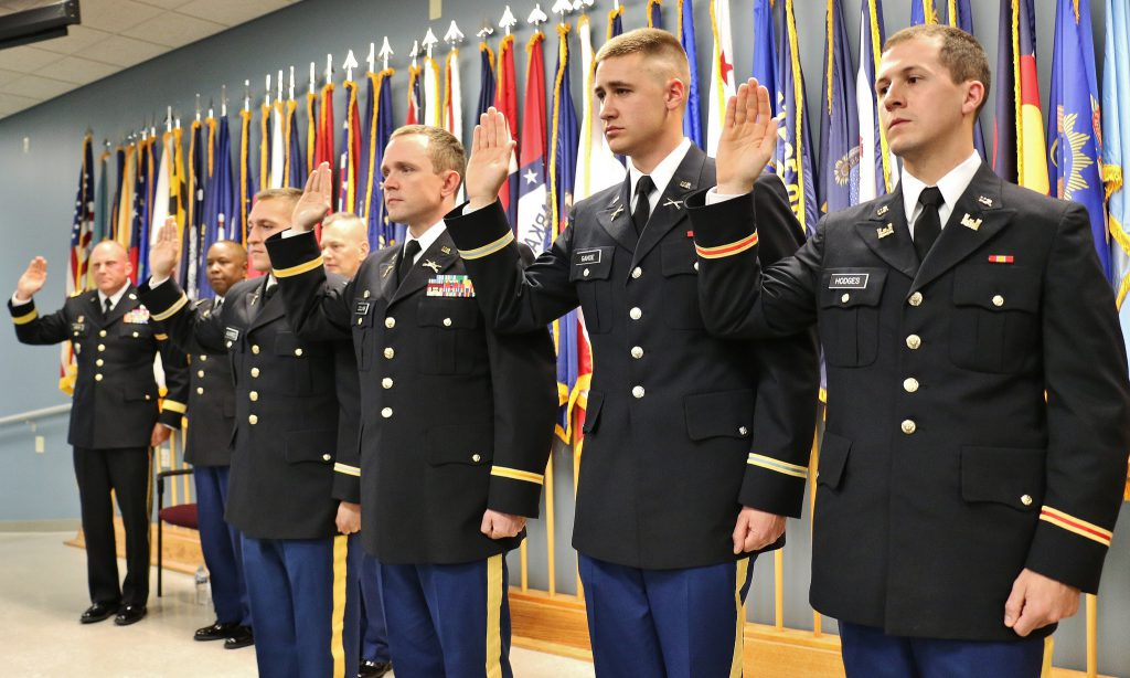 Image of graduates of Officer Candidate School